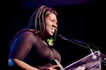 Accepting my YWCA of Montreal Woman of Distinction Award.