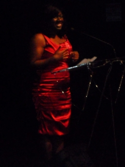 Accepting my African Canadian Achievement Award.